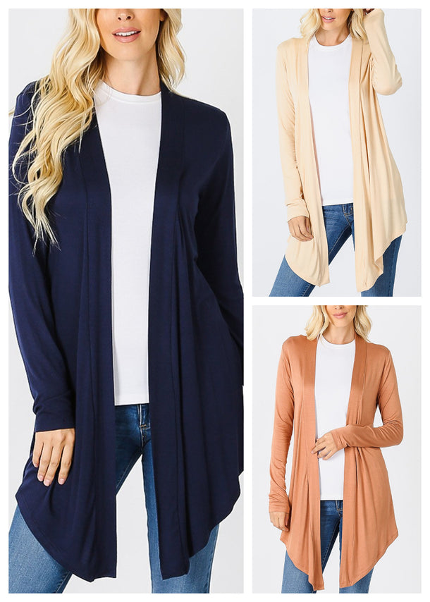 Open Front Drapey Cardigan (3 PACK)