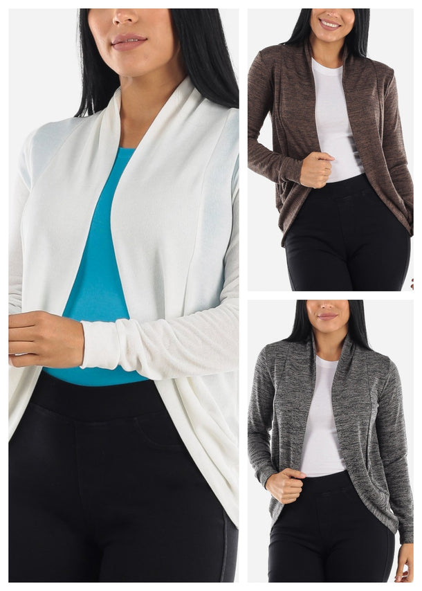 Long Sleeve Cardigans (3 PACK G62)