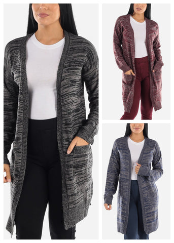 Knitted Maxi Cardigan (3 PACK)