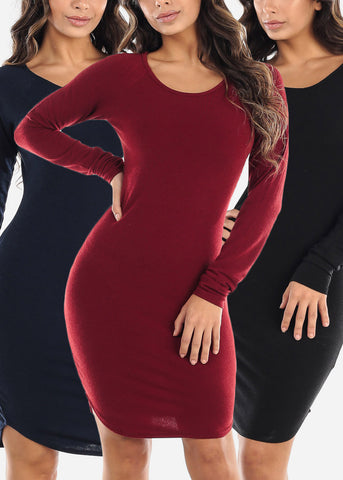 Image of Long Sleeve Dresses (3 PACK)
