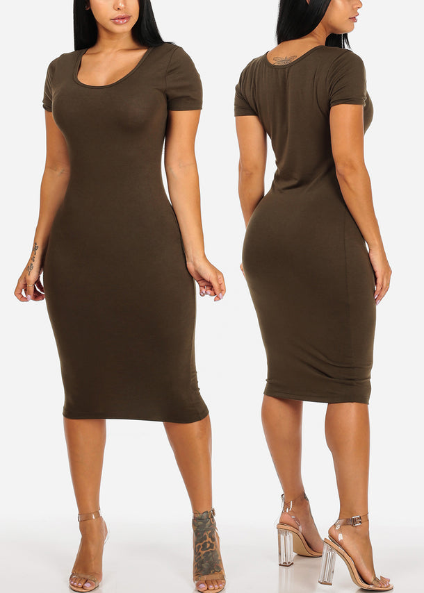 Bodycon Midi Dresses (3 PACK G22)