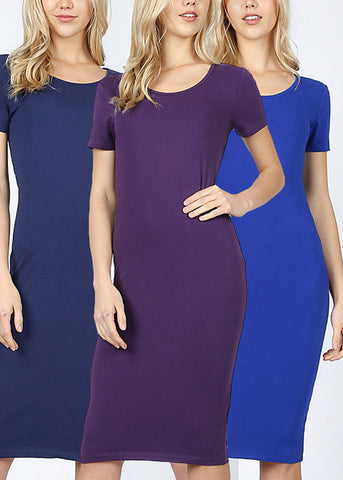 Bodycon Basic Dresses (3 PACK)