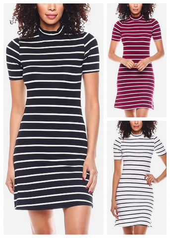 Image of Casual Striped Mini Dresses (3 Pack G84)