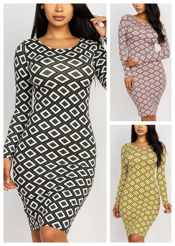 Printed Dresses (3 Pack G54)