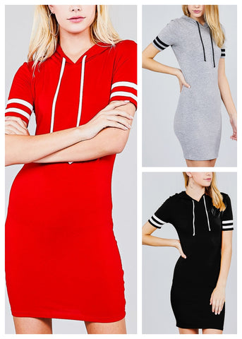 Image of Hoodie Mini Dresses (3 PACK)