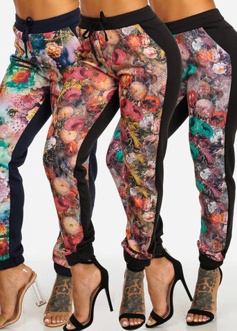 Image of 3 Pc Pack Floral Pants G73