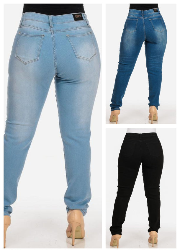 Plus Size Skinny Jeans (3 PACK G23)