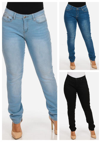 Image of Plus Size Skinny Jeans (3 PACK)