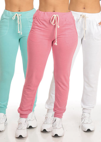 Casual High Rise Jogger Pants (3 PACK G82)