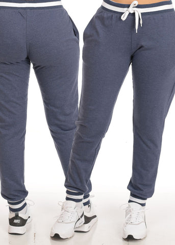 Casual High Rise Stripe Detail Jogger Pants (3 PACK G22)