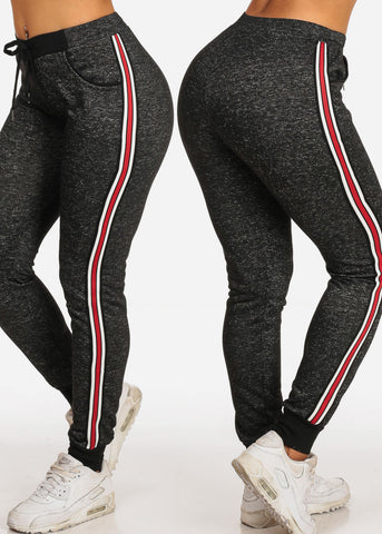 Mega Sale Pack Savings Affordable Stretchy Drawstring Waist Side Stripe Jogger Pants