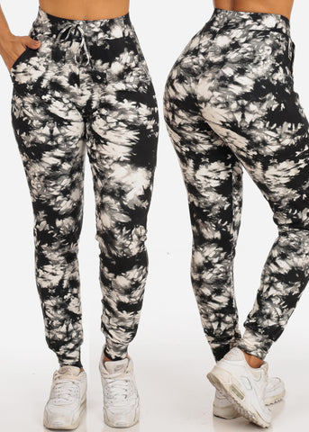Women's Junior Ladies Work Out Gym Casual Super Soft Supper Stretchy Tie Dye Joggers Mega Pack Deal Sale