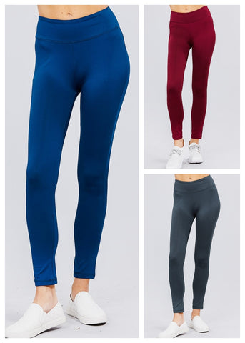 Mid Rise Activewear Leggings (3 PACK G74)