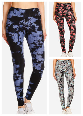 Activewear Printed Leggings (3 PACK)