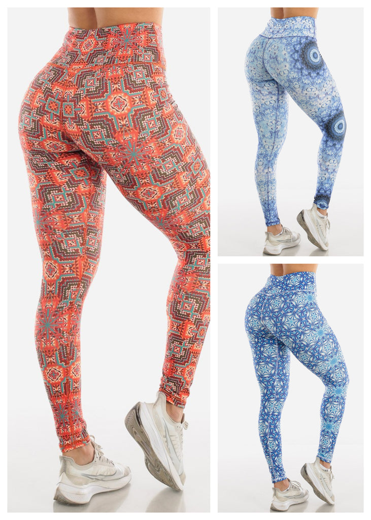 Workout Printed Leggings (3 PACKS)