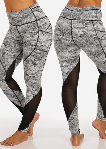 Assorted Activewear High Waisted All Over Print Workout Gym Exercise Leggings (3 PACK)
