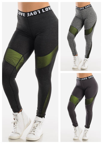 "Activewear High Rise Leggings ""Love"" (3 PACK)"