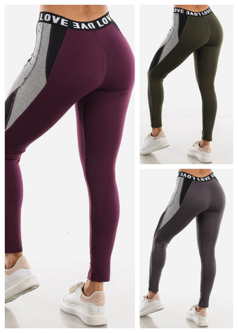 "Image of Activewear Leggings ""Love"" (3 PACK)"