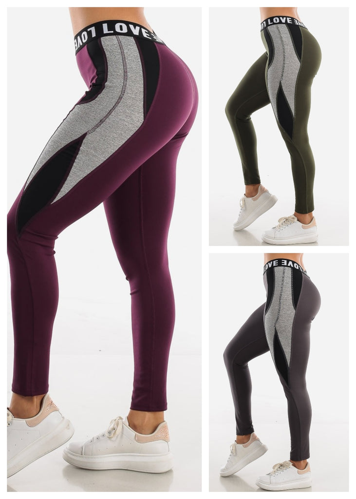 "Activewear Leggings ""Love"" (3 PACK)"
