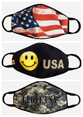 Image of America Inspired Face Masks (3 PACK)