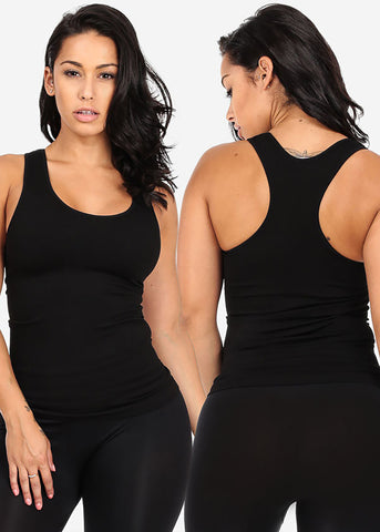ONE SIZE Basic Sleeveless Solid Classic Tops (3 PACK G31)