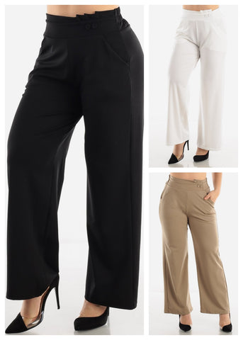 Image of High Waist Dressy Pants (3 PACK G53)