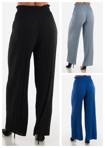 Solid Pleated Pants (3 PACK G74)