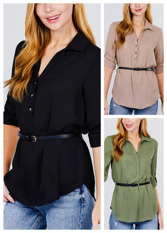Half Button Up Lightweight Shirts (3 PACK)