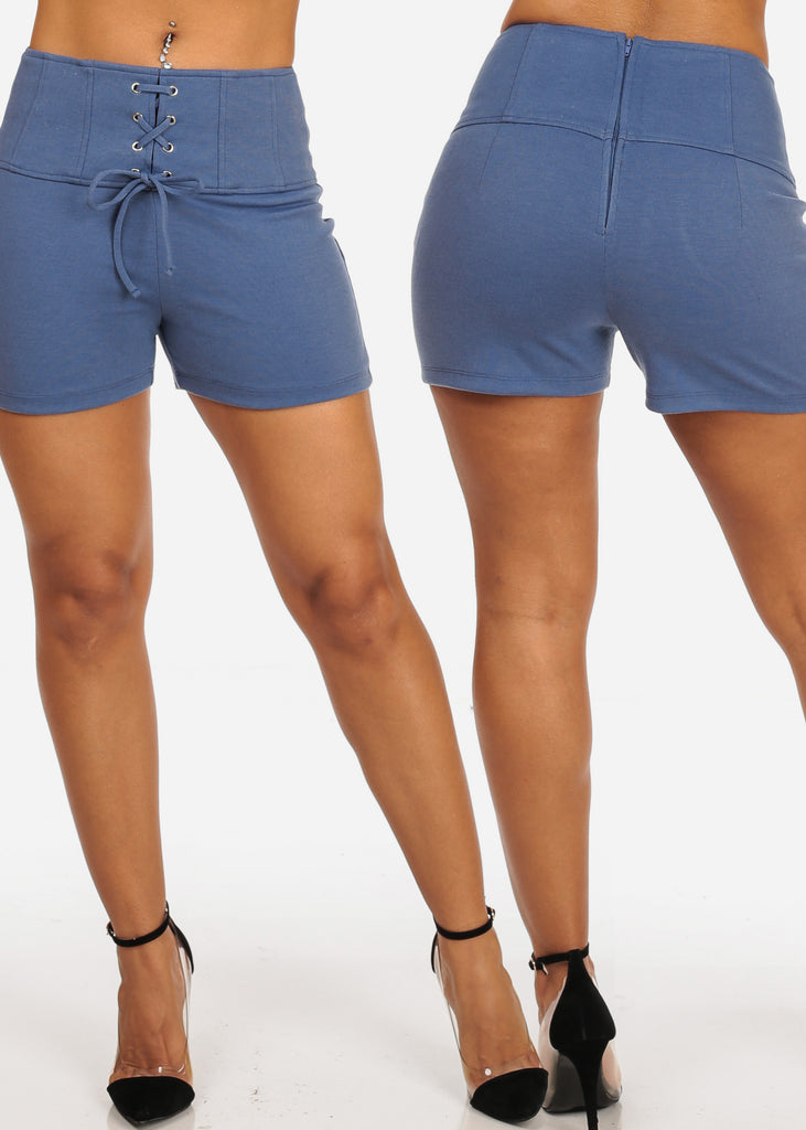 High Rise Lace Up Shorts (3 PACK G34)