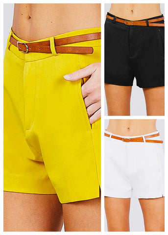 Image of Belted Shorts (3 PACK G23)