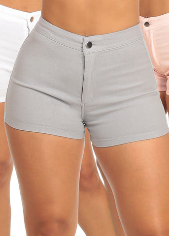 Ultra High Rise Stretchy Summer Shorty Shorts (3 PACK G41)