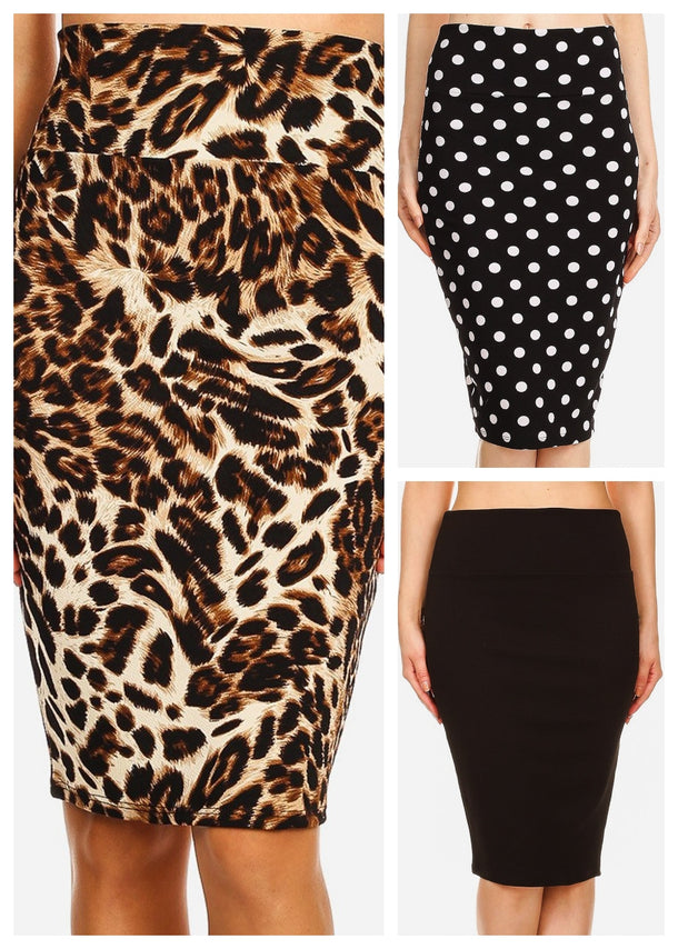 Assorted Pencil Skirts (3 PACK)