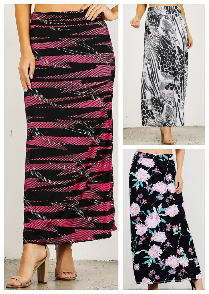 Printed Maxi Skirt (3 PACK)