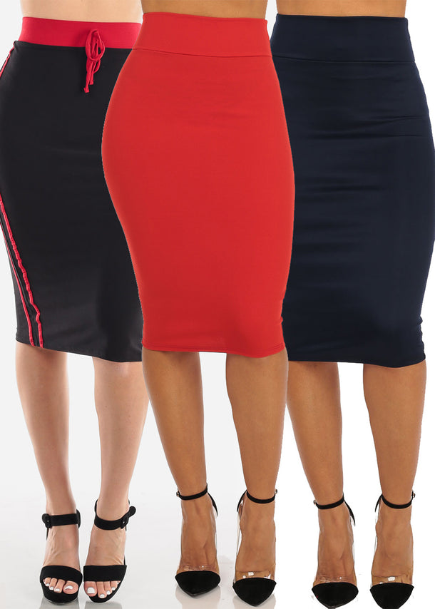High Rise Stretchy Assorted Color Skirts Mega Pack Deal Sale Clearance