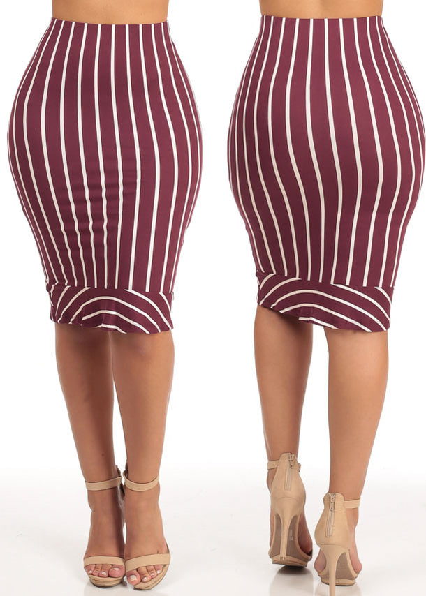 Striped Pencil Skirts (3 PACK G44)
