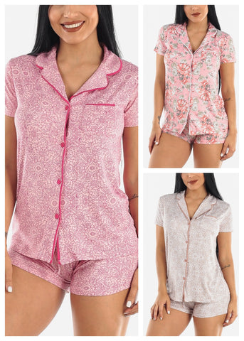 Image of Button Down PJ Set (3 PACK)