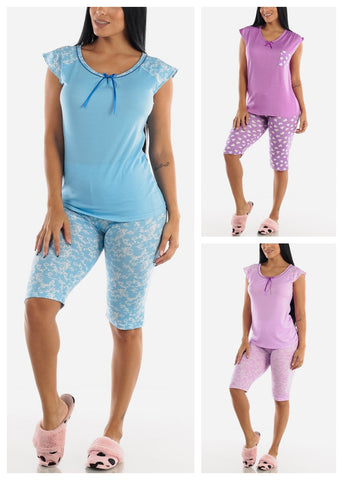 Top & Capris PJ Set (3 PACK)
