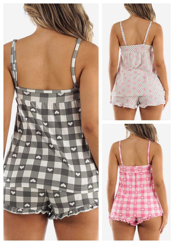 Top & Shorts PJ Set (3 PACK G34)