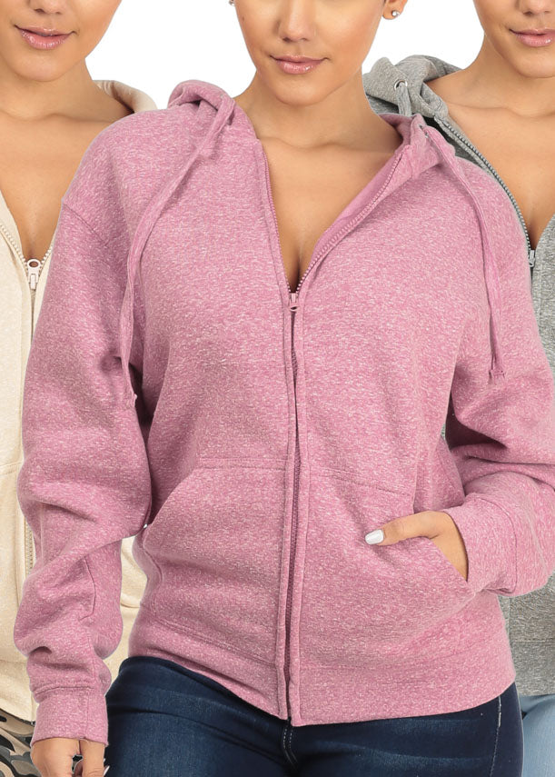3 Pc Pack Zip-Up Sweaters G84