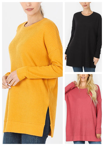 Bushed Thermal Waffle Sweaters (3 PACK)