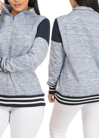 Cozy Stripe Detail Heather Sweaters (3 PACK G34)