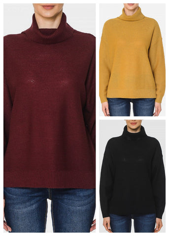 Turtle Neck Oversized Sweaters (3 PACK)