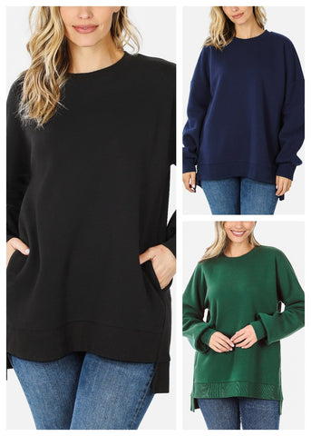 High Low Hem Sweatshirts (3 PACK)
