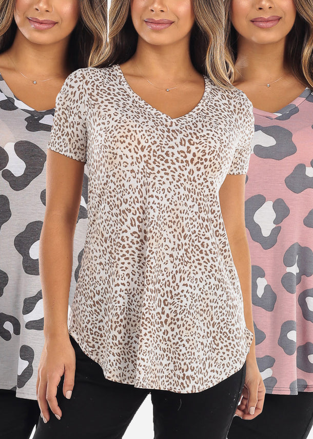 Animal Print Tops (3 PACK)