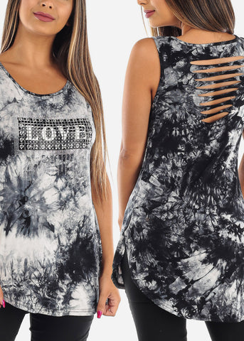 Tie Dye Graphic Tank Tops (3 PACK G72)