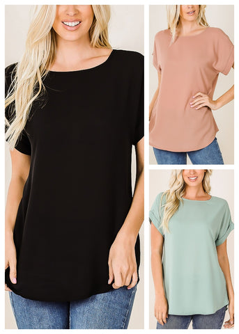 Lightweight Short Sleeve Tops (3 PACK)