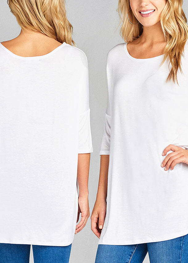 Basic Solid Tunic Tops (3 PACK G44)