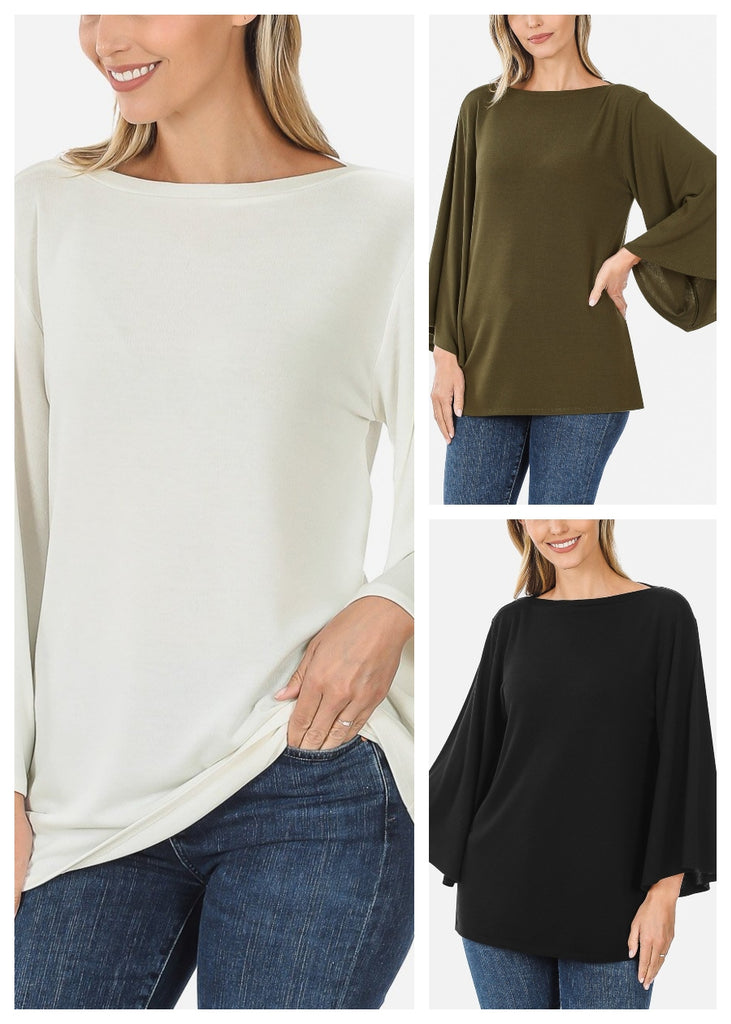 Bell Sleeve Tunics (3 PACK)