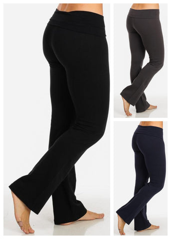Image of Cotton Yoga Pants (3 PACK G24)