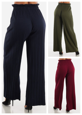 Image of High Waist Palazzo Pants (3 PACK G71)